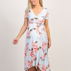 ✨NWT!✨ Floral Hi-Low Maternity Wrap Dress
